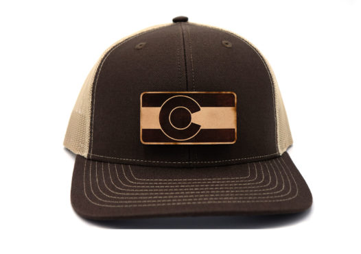 Colorado-Brown-Khaki-Trucker-State-Flag-Hat