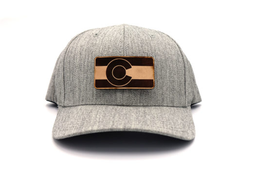 Colorado-Heather-Flexfit-Branded-Leather-Hat