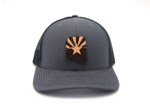 Arizona-Charcoal-Black-Trucker-Snapback-Three-Thousand-Pennies-Hat