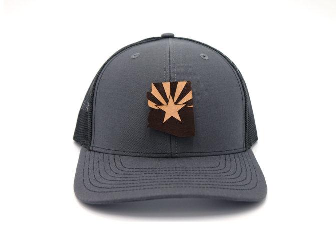 Arizona-Charcoal-Black-Trucker-Snapback-Three-Thousand-Pennies-Hat