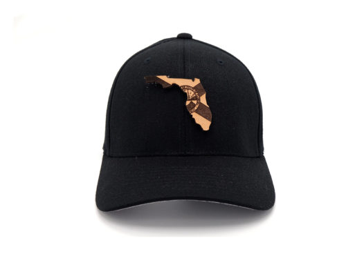 Florida-Black-Flexfit-Leather-State-Flag-Patch-Hat