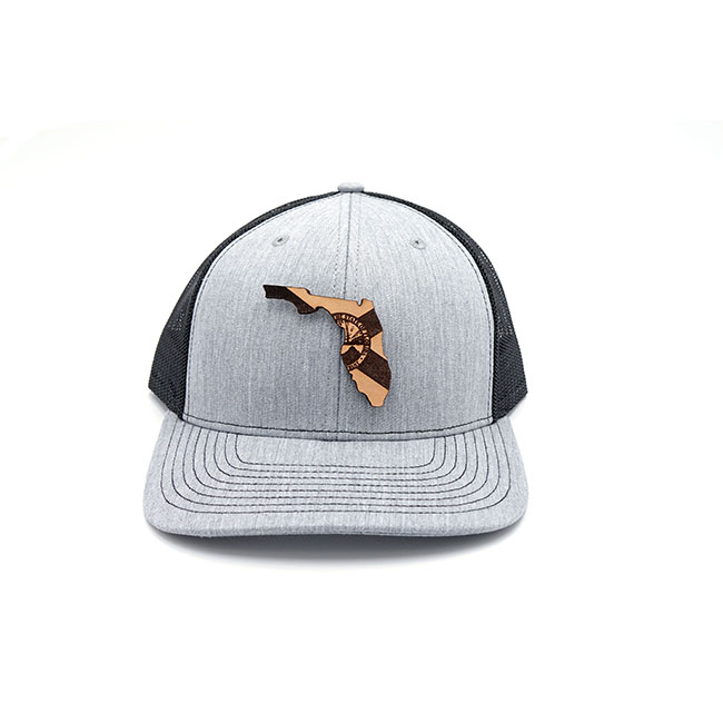 Florida Trucker Leathre Patch HatFlorida Trucker Leathre Patch Hat