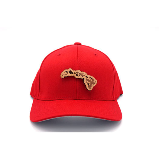 Hawaii Flexfit Leather Patch Hat