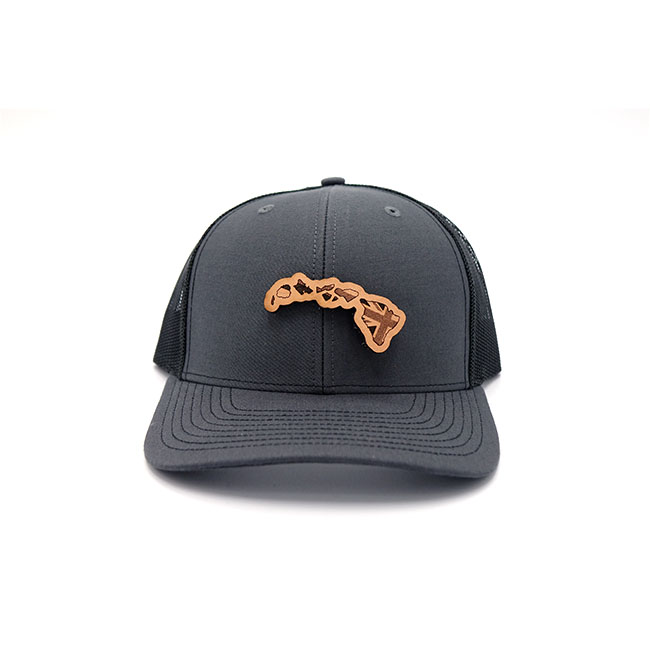 Hawaii Leather Patch Hat Branded Three Thousand Pennies