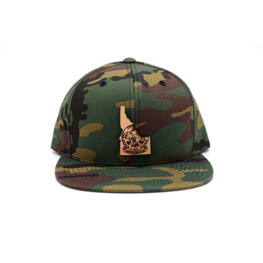 Idaho Camo Snapback Leather Patch Hat