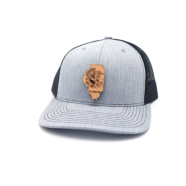 Illinois Leather Patch Hat