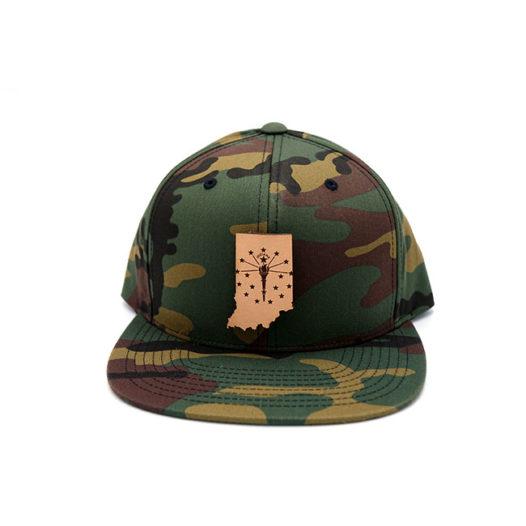 Indiana Flatbill Snapback Leather Patch Hat