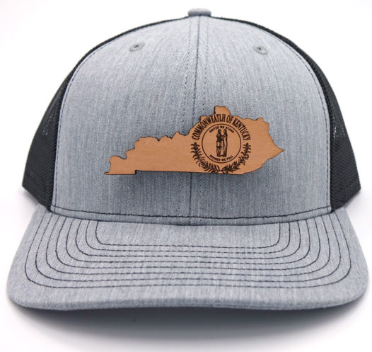 Kentucky-Heather-Black-Trucker-Branded-Billed-Hat