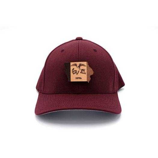 Maroon Iowa Flexfit State Pride Hat