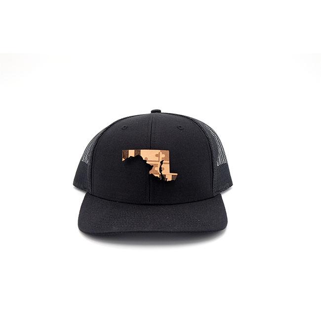 Maryland Black Trucker State Pride Hat