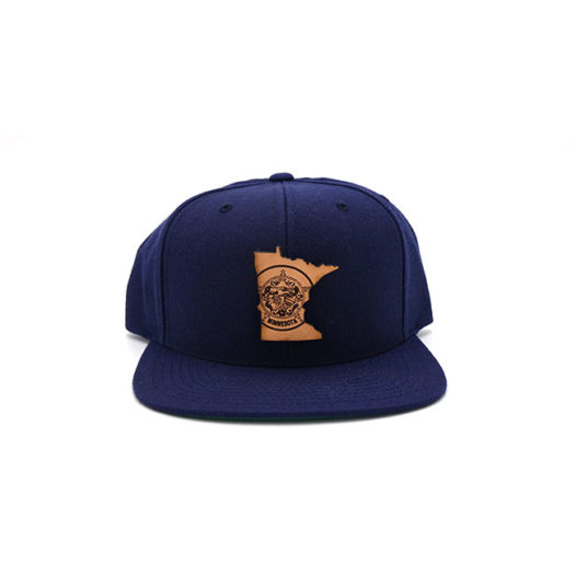 Minnesota Navy Flatbill Branded Leather Patch Hat