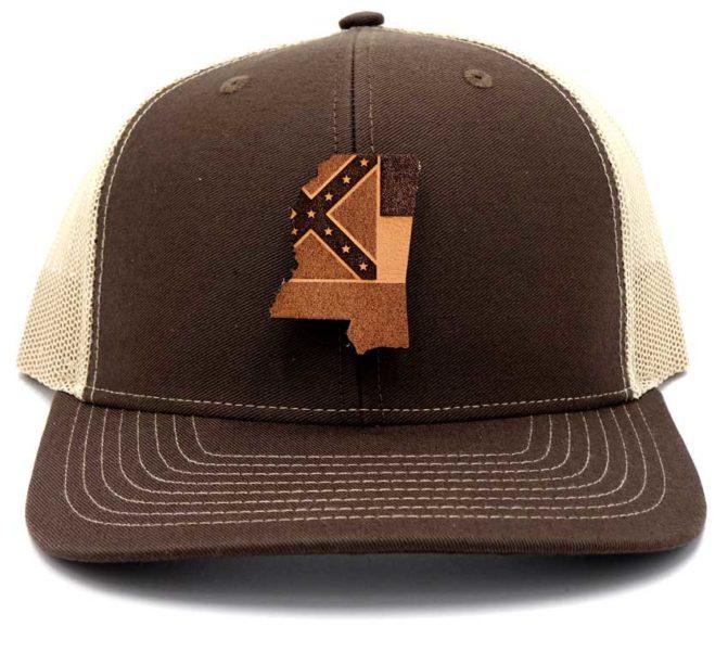 Mississippi | Charcoal/Black Curved Bill Trucker Snapback State Hat