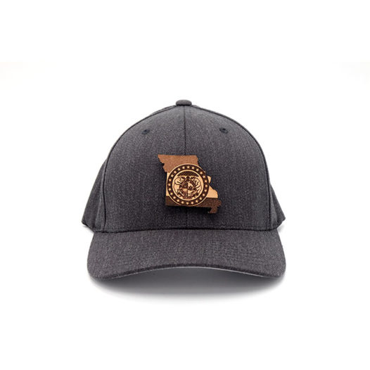 Missouri Flexfit Dark Heather Leather Patch Hat