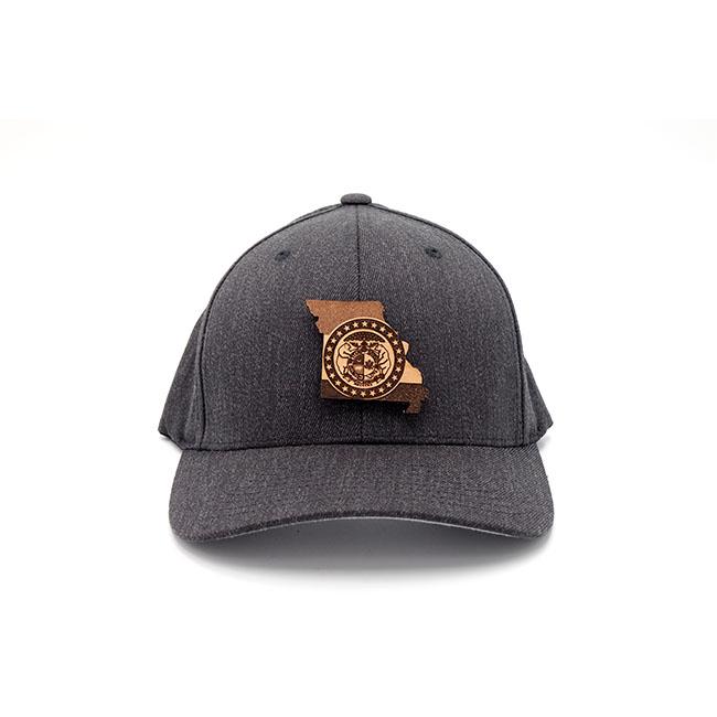 Missouri Flexfit Dark Heather Leather Patch Hat