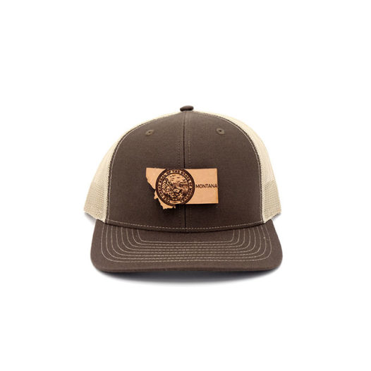 Montana Brown Khaki Trucker State Pride Hat