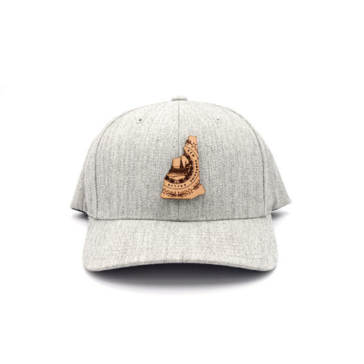 New Hampshire | Heather Grey Flexfit State Hat