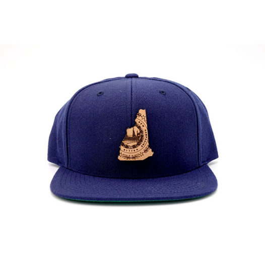 New Hampshire | Navy Flatbill Snapback State Hat