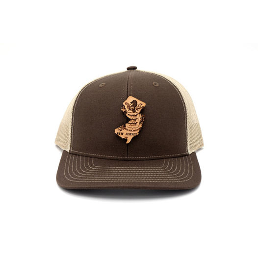 New Jersey | Brown/Khaki Trucker State Flag Hat