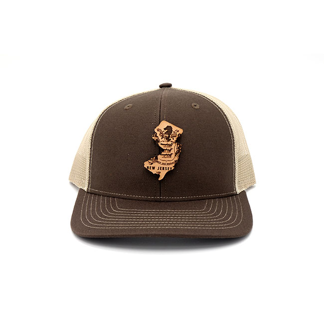 New Jersey | Brown/Khaki Trucker State Flag Hat