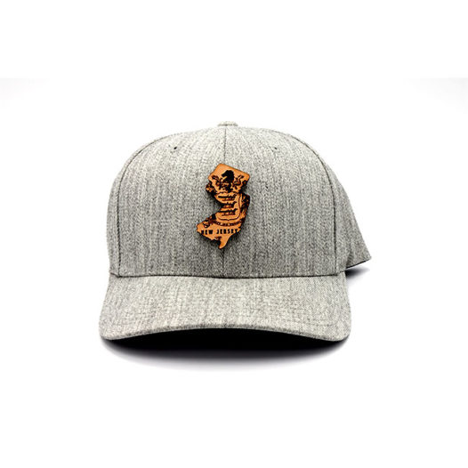 New Jersey | Heather Grey Flexfit State Hat