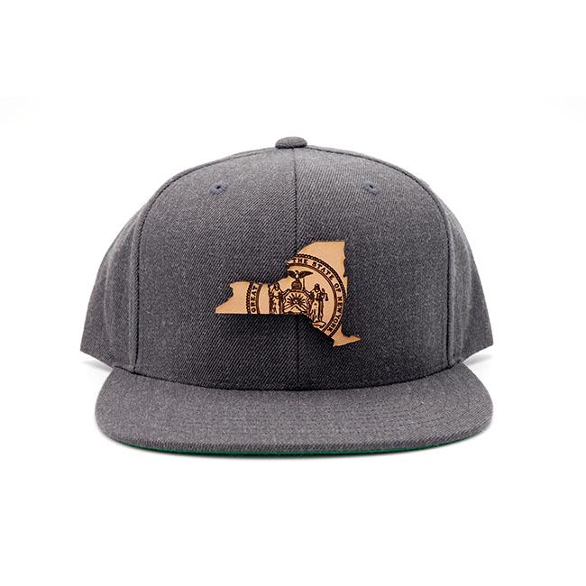 New York | Dark Heather Flatbill Snapback State Flag Hat