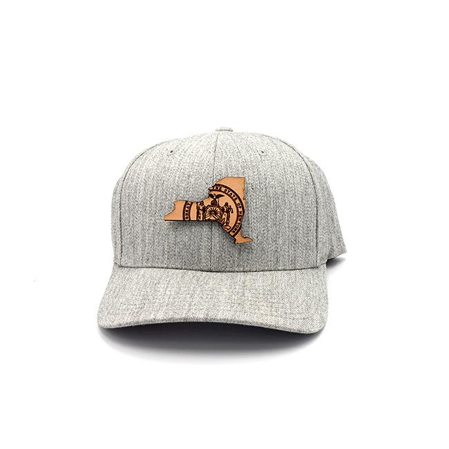 New York | Heather Grey Flexfit State Flag Hat