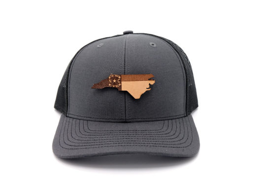 North-Carolina-Charcoal-Black-Trucker-Snapback-Custom-Hat