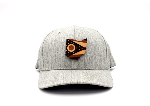 Ohio-Heather-Grey-Flexfit-Custom-Patch-Hat