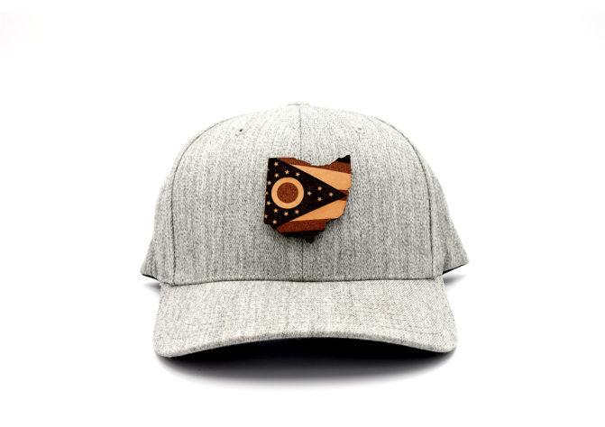 Ohio-Heather-Grey-Flexfit-Custom-Patch-Hat
