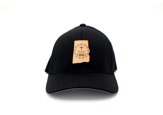 Rhode-Island-Black-Flexfit-Custom-Leather-Patch-Hat