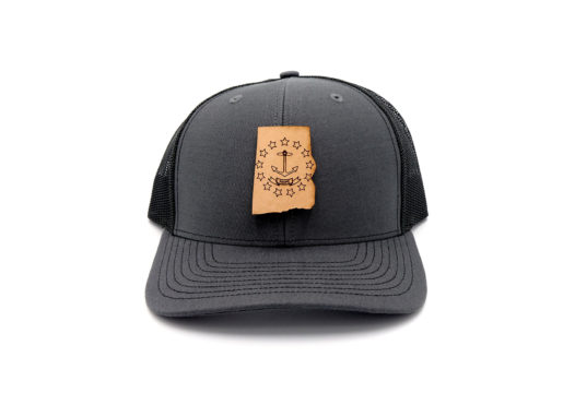 Rhode-Island-Charcoal-Black-Leather-Patch-Hat