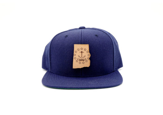 Rhode-Island-Navy-Flatbill-Snapback-Branded-Leather-Patch-Hat