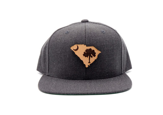 South-Carolina-Dark-Heather-Flatbill-Snapback-Patch-Hat