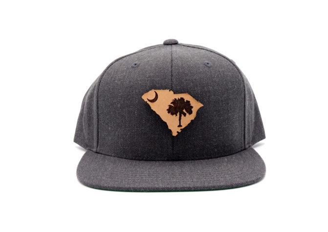 South-Carolina-Dark-Heather-Flatbill-Snapback-Patch-Hat