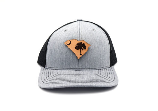 South-Carolina-Heather-Black-Trucker-Leather-State-Pride-Hat