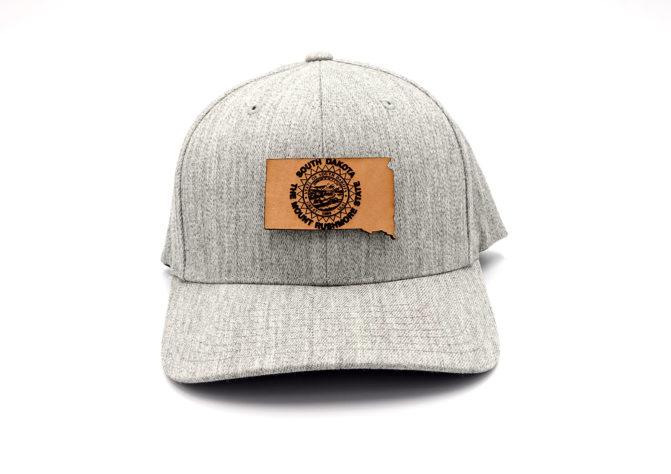 South-Dakota-Heather-Grey-Flexfit-Three-Thousand-Pennies-Hat