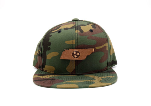 Tennessee-Camo-Flatbill-Snapback-Leaher-patch-hat