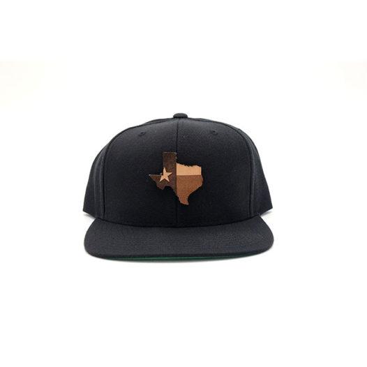 Texas Black Flatbill Snapback Custom Hat