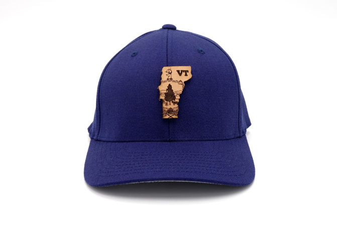 Vermont-Navy-Flexfit-Three-Thousand-Pennies-Branded-Billed-Hat