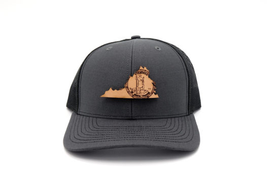 Virgina-Charcoal-Black-Trucker-Snapback-Custom-Three-Thousand-Pennies-Hat