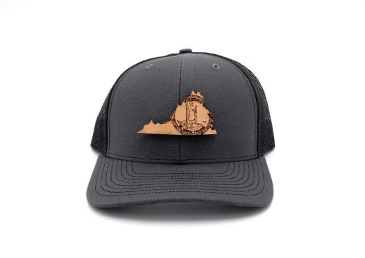 Virgina-Charcoal-Black-Trucker-Snapback-Custom-Three-Thousand-Pennies-Hat