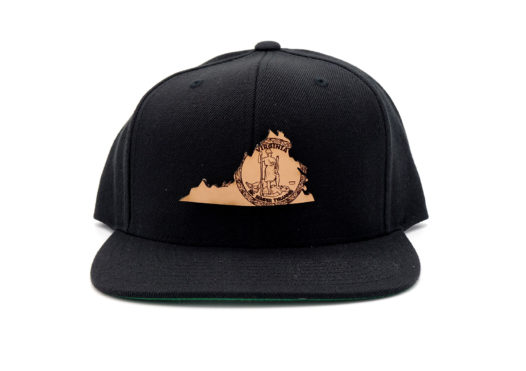 Virginia-Black-Flatbill-Snapback-Three-Thousand-Pennies-Hat