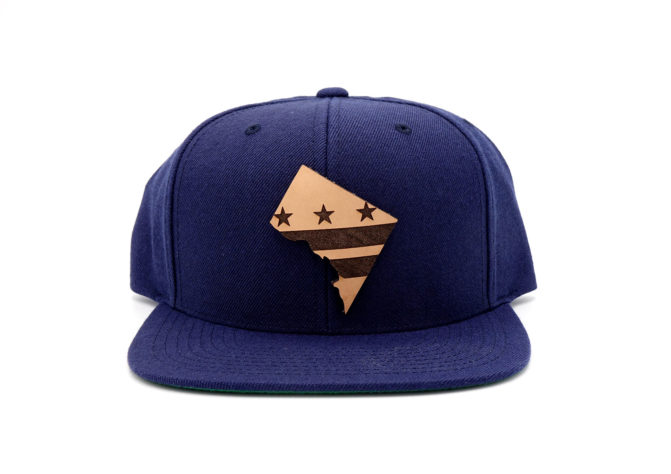 Washington-DC-Navy-Flatbill-Snapback-Custom-Patch-Hat