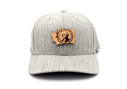Washington-Heather-Grey-Flexfit-State-Pride-hat