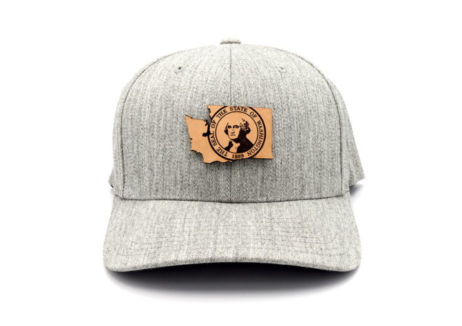 Washington-Heather-Grey-Flexfit-State-Pride-hat