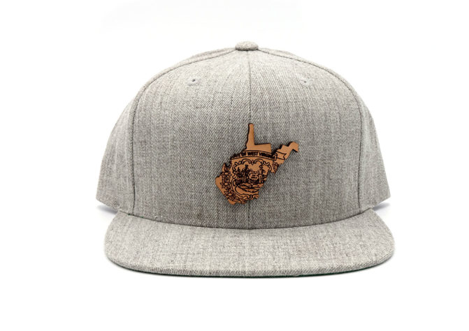 West-Virginia-Heather-Grey-Leathe-Patch-Hat