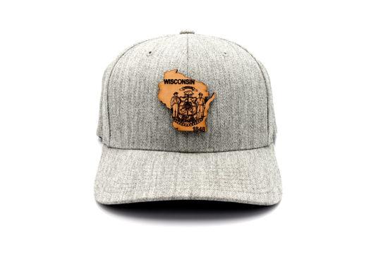 Wisconsin-Heather-Grey-Flexfit-Three-Thousand-Pennies-Hat