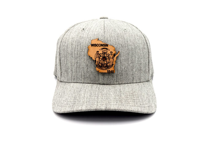 Wisconsin-Heather-Grey-Flexfit-Three-Thousand-Pennies-Hat