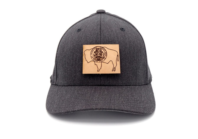 Wyoming-Dark-Heather-Flexfit-Custom-Patch-Hat