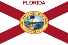 Florida custom hat, state flag hat, branded leather patch hat